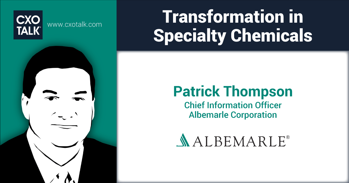 Digital Transformation: Disruption in Specialty Chemicals